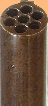Muzzle of seven barrelled .22 long goose rifle of Belgian make