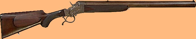 Seven barrelled .22 long goose rifle of Belgian make