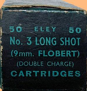 Eley Long Shot No. 3, carton end view